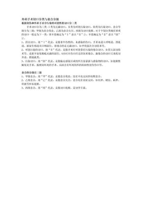 外科手术切口分类与愈合分级.doc