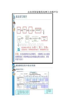 山东省国家税务局网上办税平台.doc