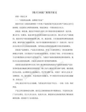 [练习]水泥厂质量月征文.doc