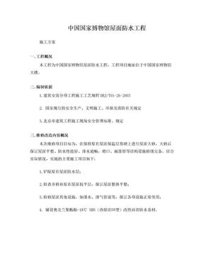 中国国家博物馆屋面防水方案.doc