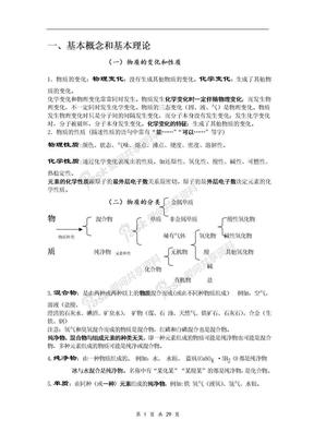 中考化学知识点总结.doc