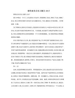 销售业务员实习报告2017.doc