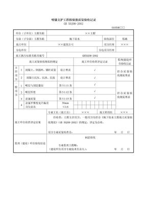 范例4-28  喷锚支护工程检验批质量验收记录.doc