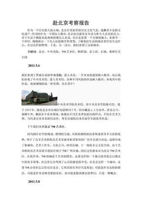艺术生赴北京考察报告.doc