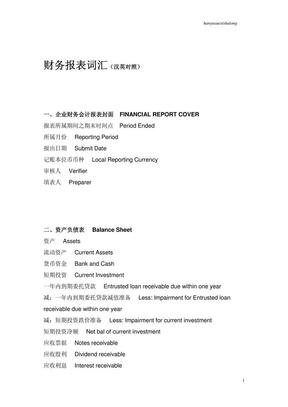财务报表词汇(汉英对照).pdf