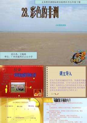 28 彩色的非洲 精品课件 五年级语文下册.ppt