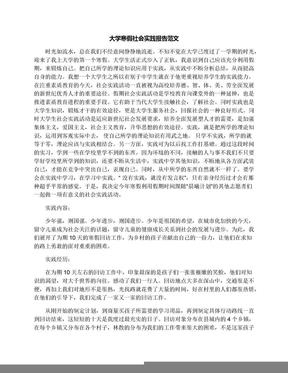 大学寒假社会实践报告范文.docx