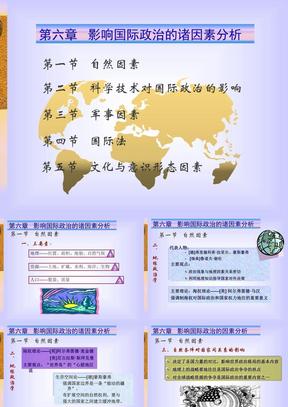 第六讲 影响国际政治的因素分析.ppt