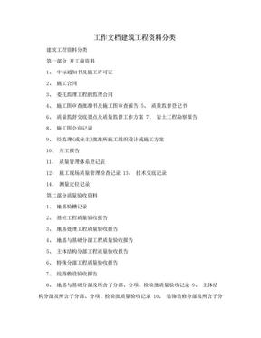 工作文档建筑工程资料分类.doc