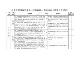 山东省特殊教育学校省级规范化学校评估标准与实施细则.doc