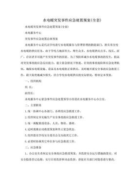 水电暖突发事件应急处置预案(全套).doc