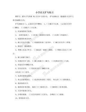小学语文扩句练习.doc