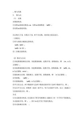 初中数学公式定理总结.doc
