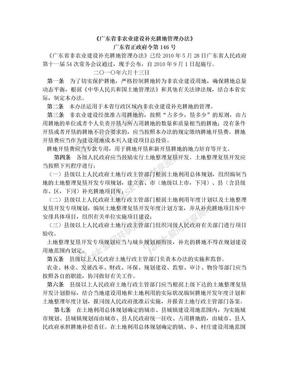 广东省非农业建设补充耕地管理办法(广东省正政府令第146号).doc