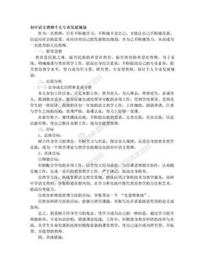 初中语文教师个人专业发展规划.doc