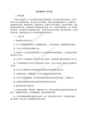 政治教研组工作计划.docx