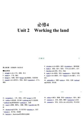 新人教英语词汇句型复习课件必修4 Unit 2 Working the land.ppt
