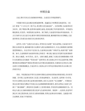 公益在中国的历史发展及现状.doc