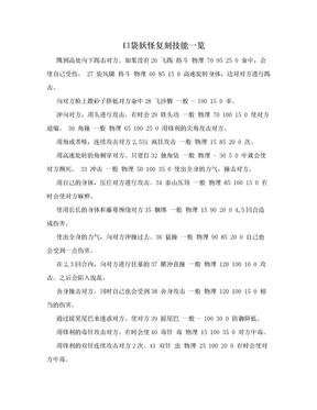 口袋妖怪复刻技能一览.doc