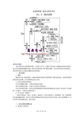 高考物理第一轮复习导学203受力分析.doc