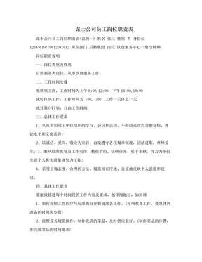 谋士公司员工岗位职责表.doc