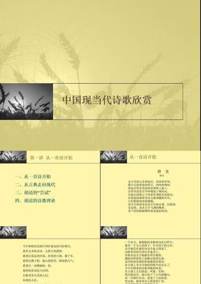 中国现当代诗歌欣赏课件1.ppt
