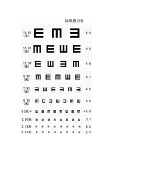 标准视力表.doc