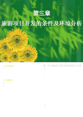 杨振之_《旅游项目策划》课件_第三章.ppt