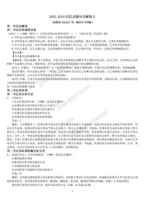 2002-2010民法真题分章解析.doc