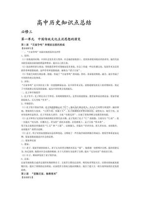 (精品)高中历史知识点总结(整理).pdf