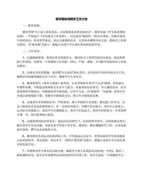 新学期体育教学工作计划.docx