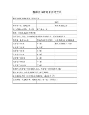 畅游全球旅游卡营销方1.doc