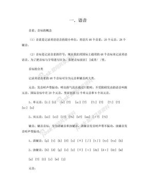 小升初英语衔接教材.doc