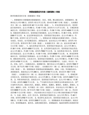 陕西省撤县设市方案(最新通知)转起.docx