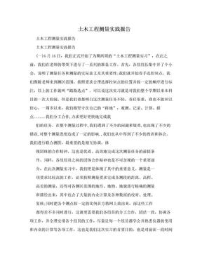 土木工程测量实践报告.doc