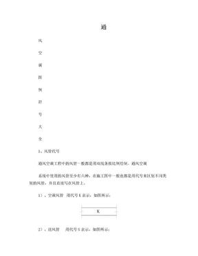 符号大全-通风空调图例.doc