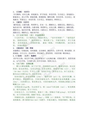 初中必背古诗文61首--新课标2011版.doc