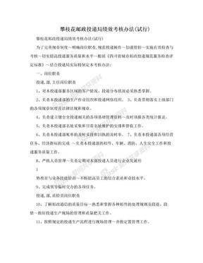 攀枝花邮政投递局绩效考核办法(试行).doc