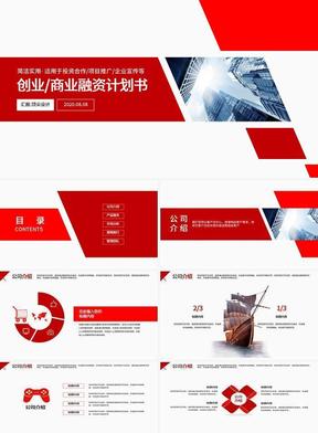 红色简约创业商业计划书PPT 1178.pptx