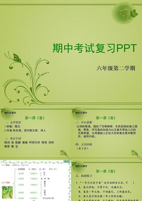 六年级第二学期语文期中复习.ppt