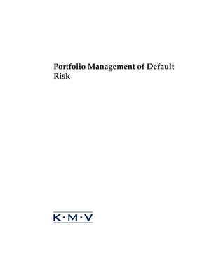 Portfolio Management of Default Risk.pdf