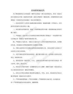 肖河村村规民约.doc