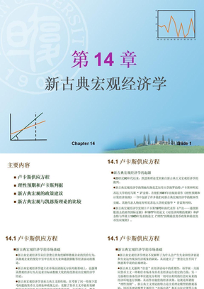复旦袁志刚宏观14--第十四章新古典宏观经济学.ppt