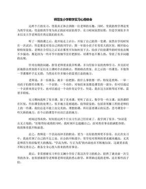 师范生小学教学实习心得体会.docx