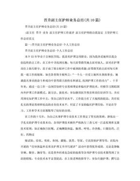 晋升副主任护师业务总结(共10篇).doc