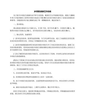 乡村医生培训工作总结.docx