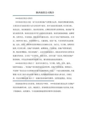 陕西商贸公司简介.doc