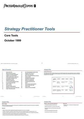 普华永道:战略分析框架.ppt