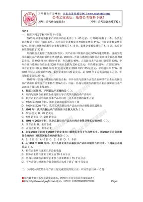 资料分析题目大汇总,可打印(劳动了很久).doc