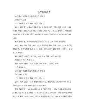 工程量清单表.doc